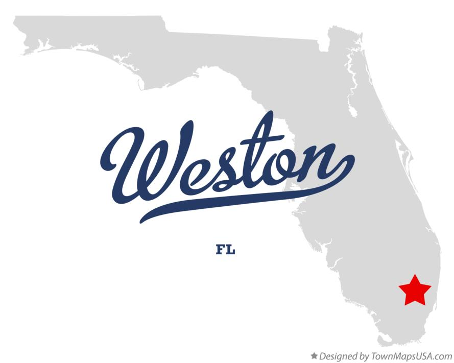 Map Of Weston Florida.Map Of Weston Fl Florida