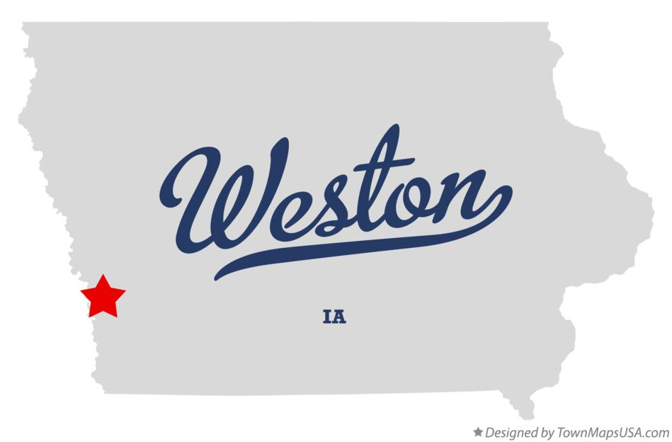 Map of Weston Iowa IA