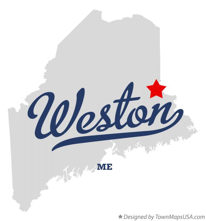 Map of Weston Maine ME