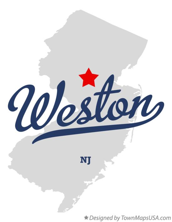 Map of Weston New Jersey NJ