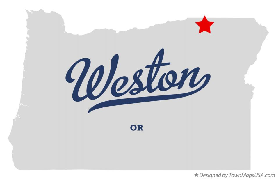 Map of Weston Oregon OR