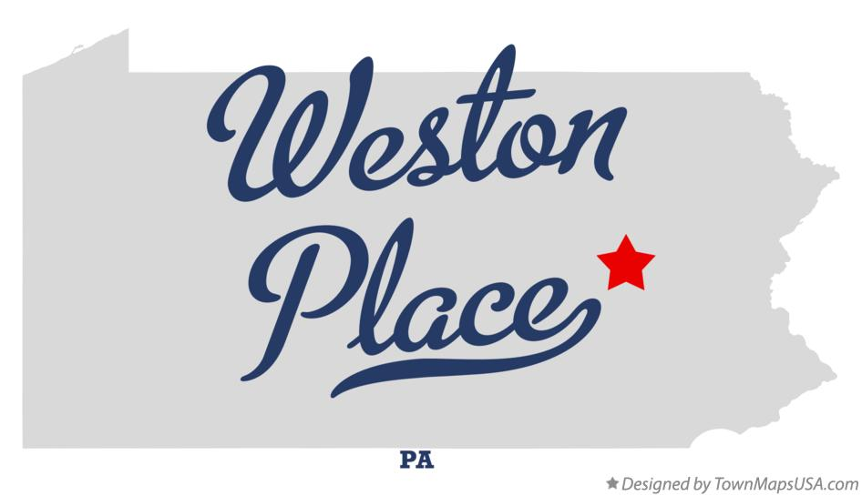 Map of Weston Place Pennsylvania PA