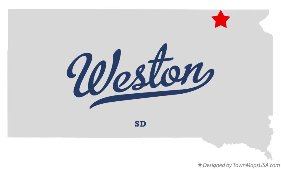 Map of Weston South Dakota SD