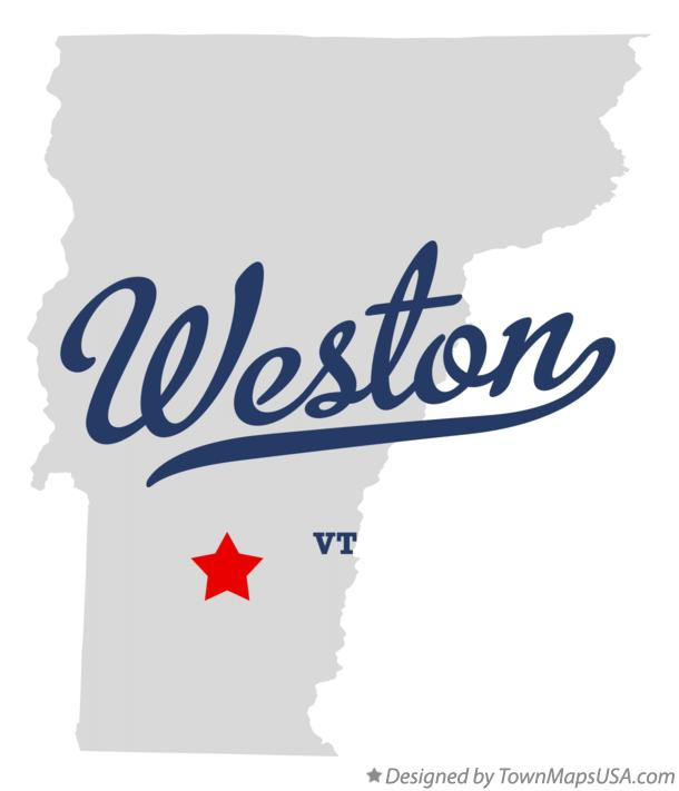 Map of Weston Vermont VT