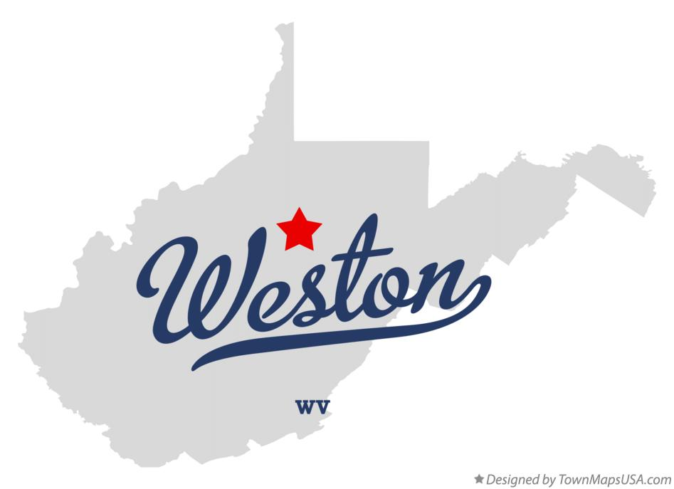 Map of Weston West Virginia WV