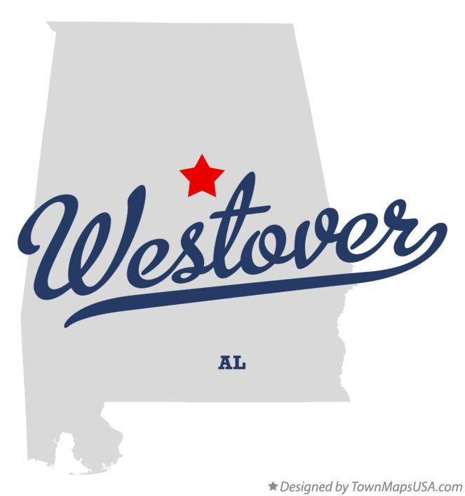 Map of Westover Alabama AL