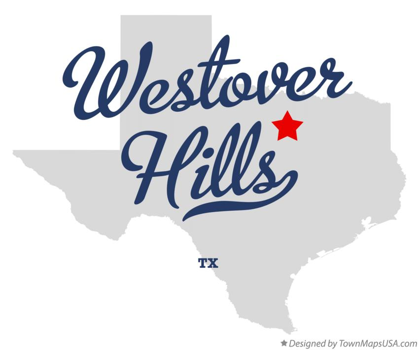 Map of Westover Hills Texas TX
