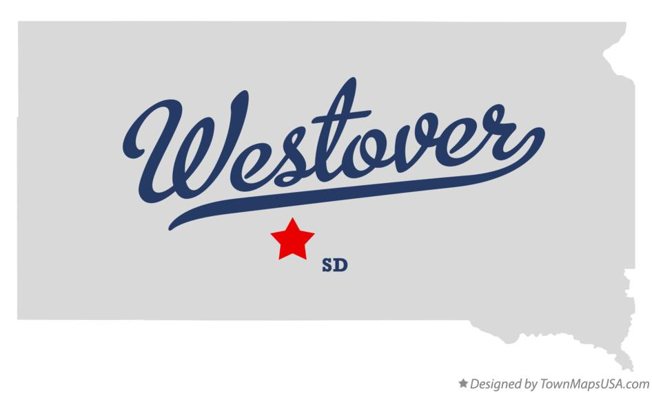 Map of Westover South Dakota SD