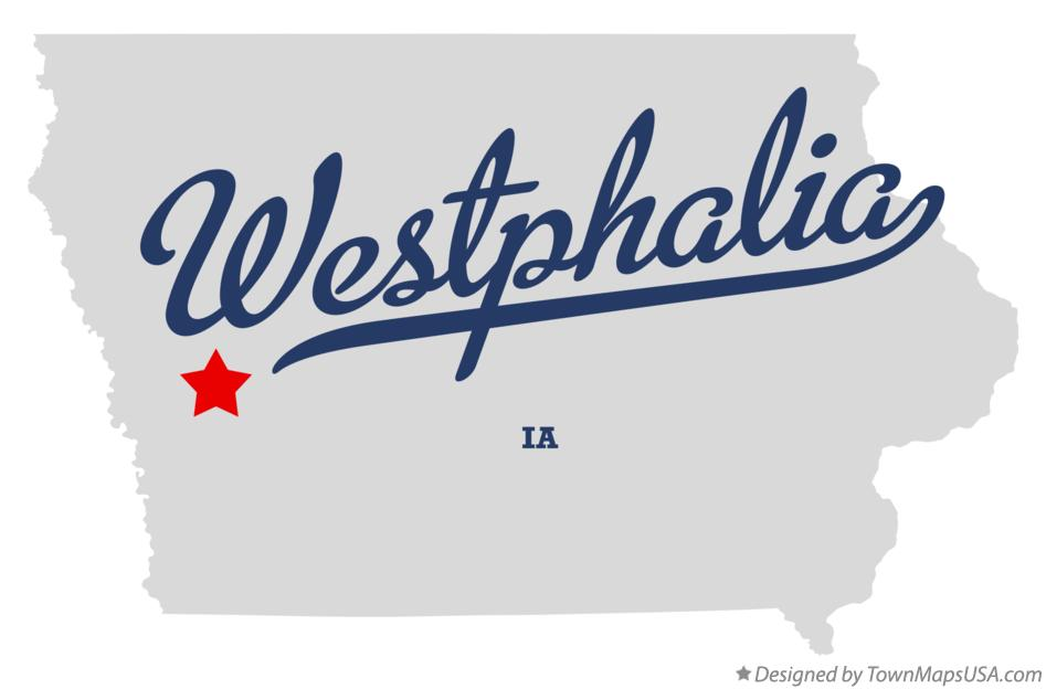 Map of Westphalia Iowa IA