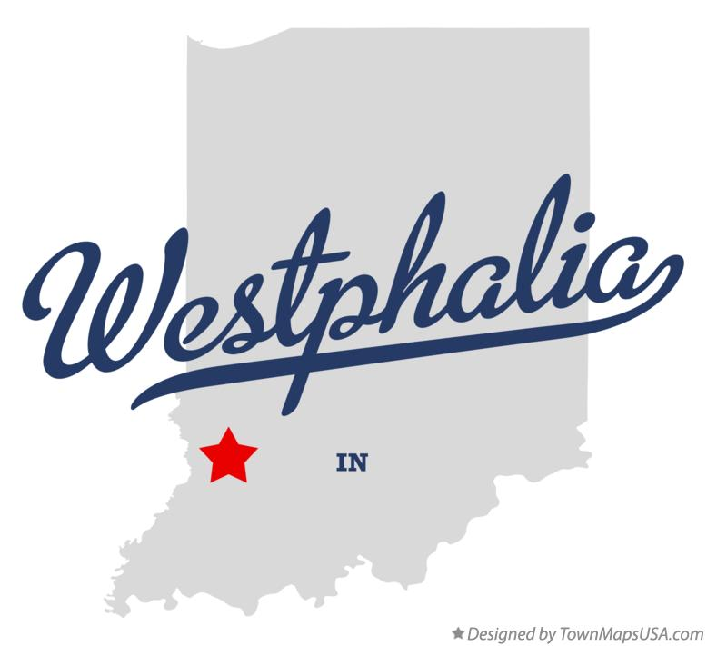 Map of Westphalia Indiana IN