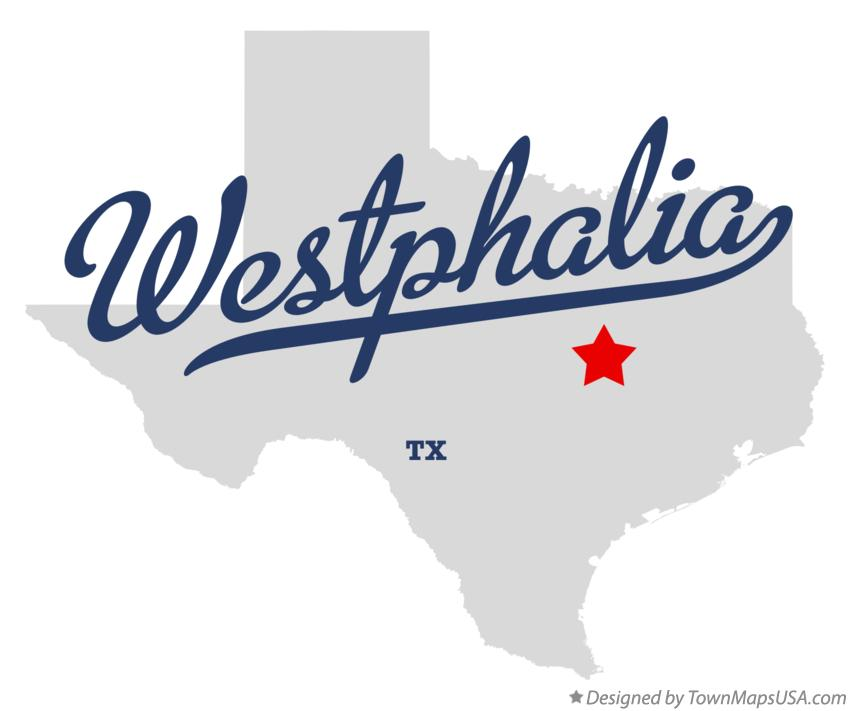 Map of Westphalia Texas TX