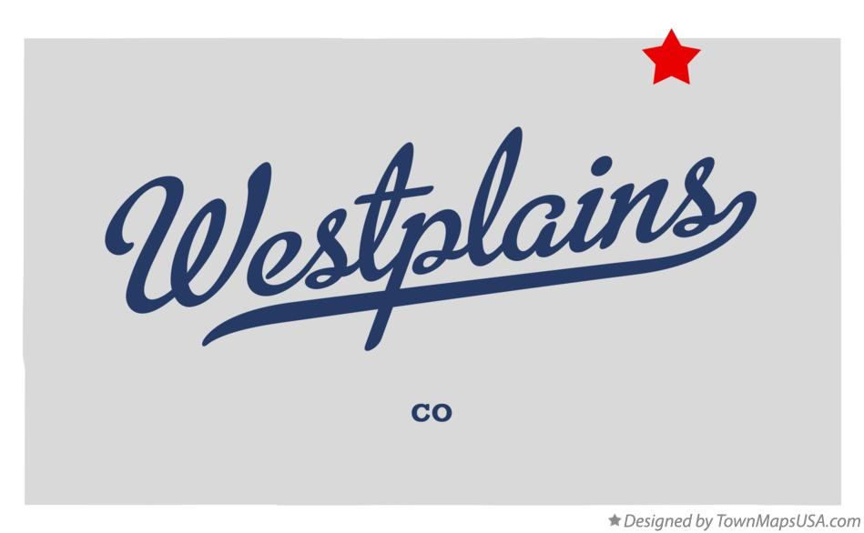 Map of Westplains Colorado CO