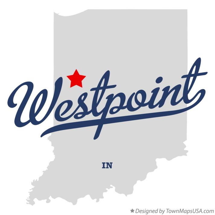 Map of Westpoint Indiana IN