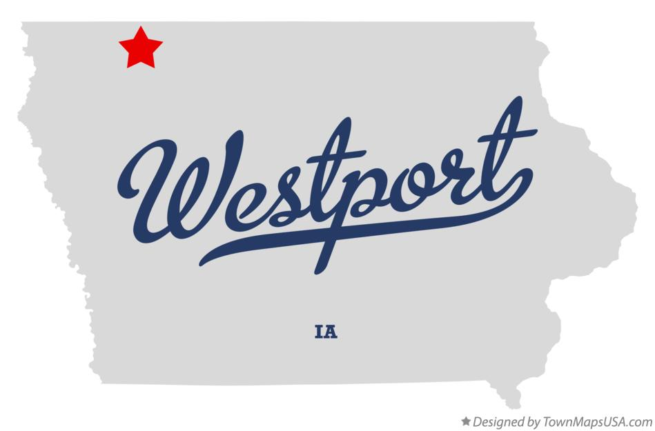 Map of Westport Iowa IA