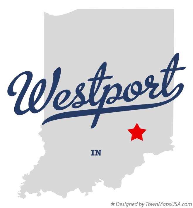 Map of Westport Indiana IN