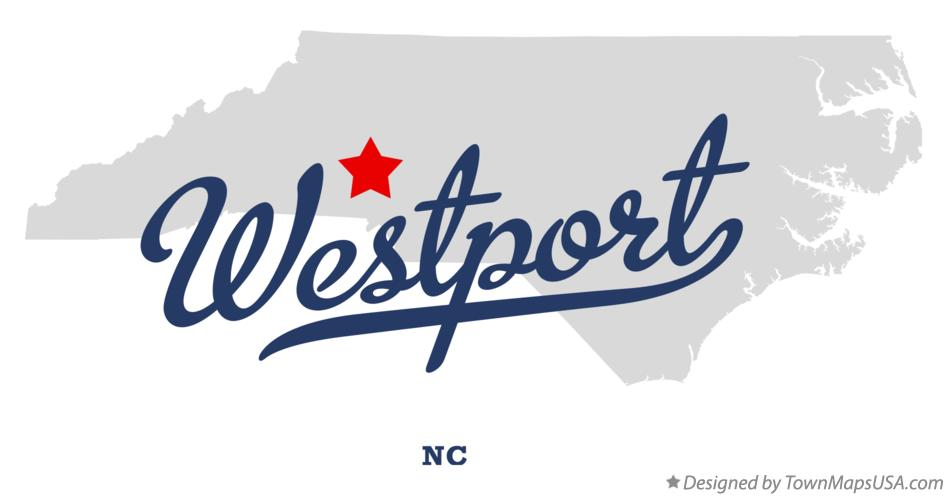 Map of Westport North Carolina NC