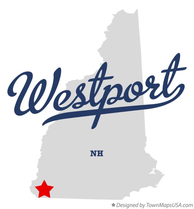 Map of Westport New Hampshire NH