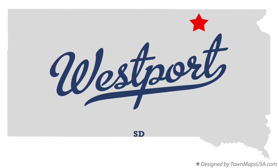 Map of Westport South Dakota SD