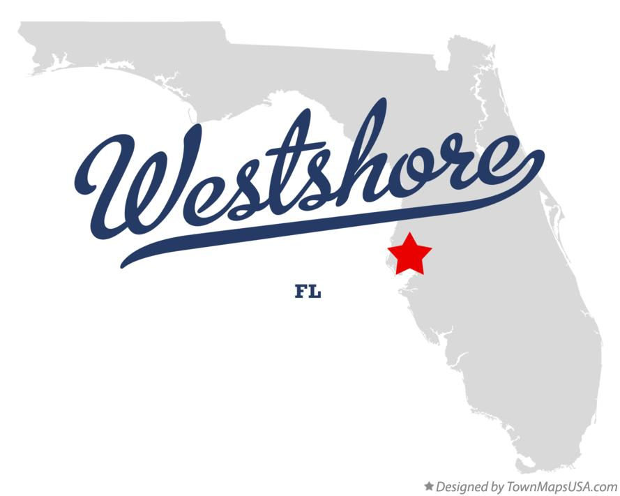 Map of Westshore Florida FL