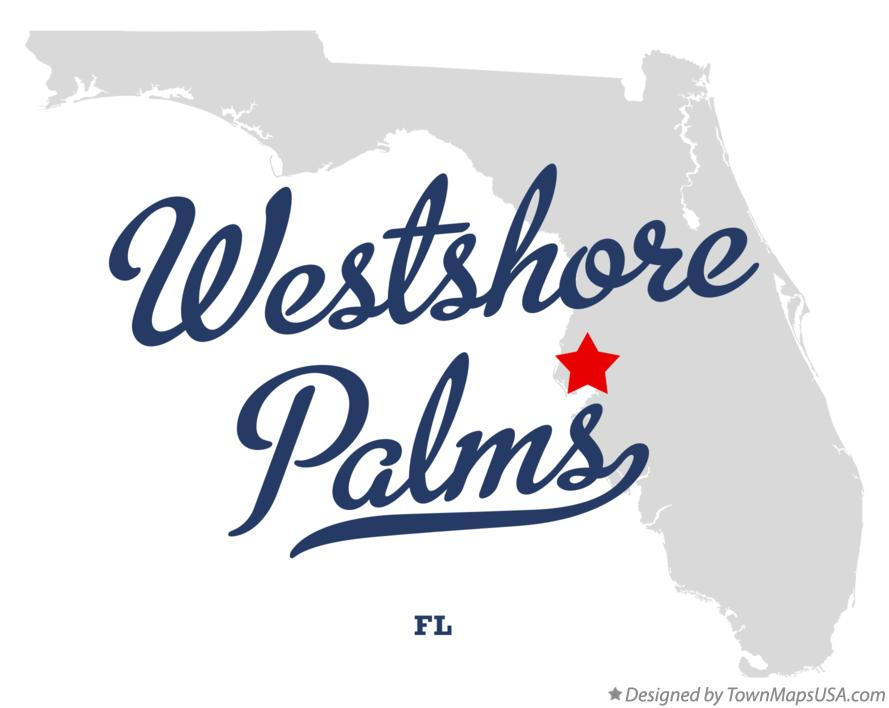 Map of Westshore Palms Florida FL