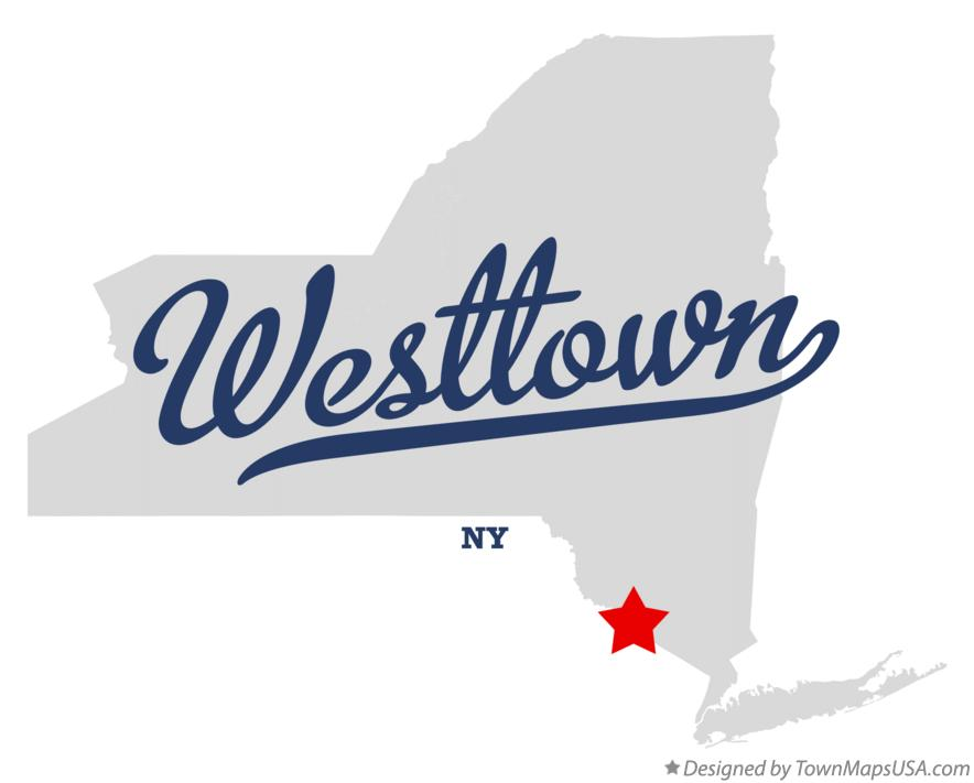 Map of Westtown New York NY