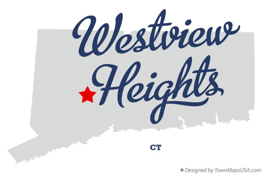 Map of Westview Heights Connecticut CT