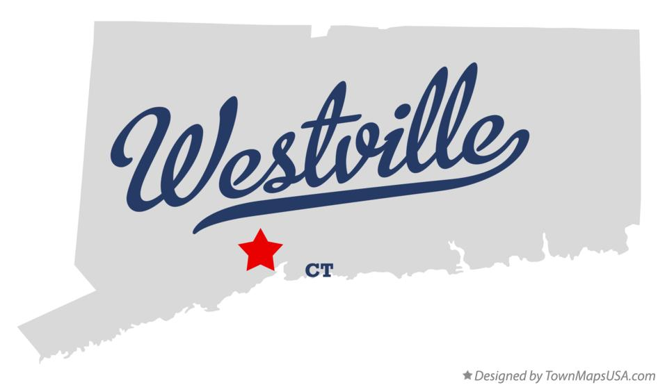 Map of Westville Connecticut CT