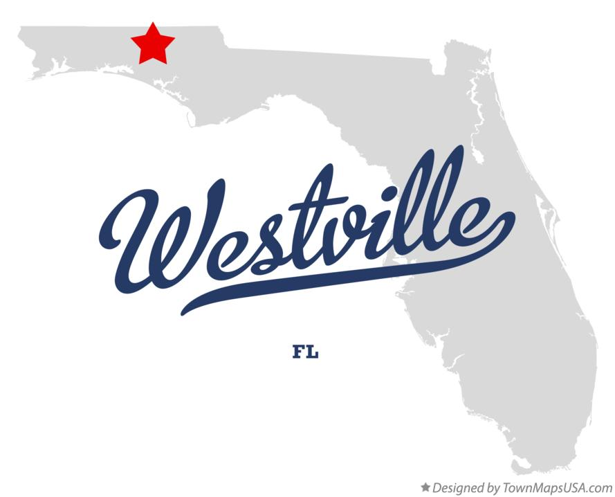 Map of Westville Florida FL
