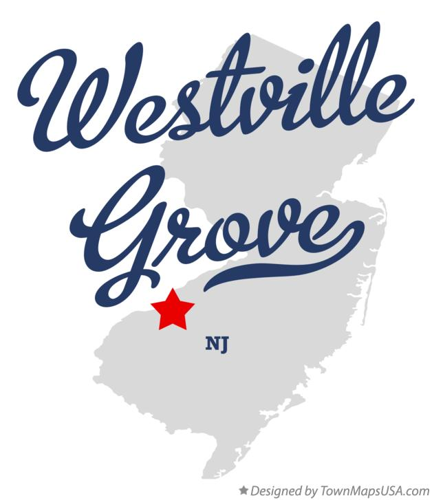 Map of Westville Grove New Jersey NJ