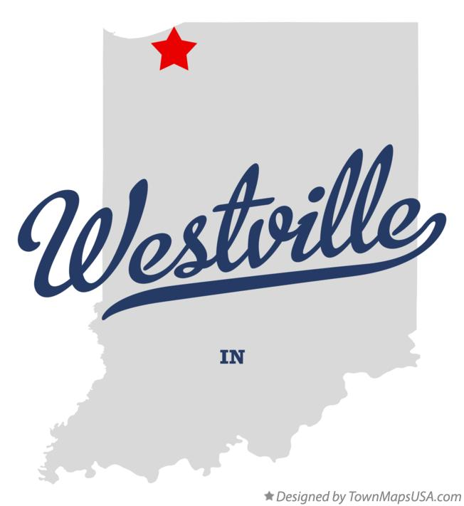 Map of Westville Indiana IN