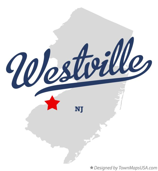 Map of Westville New Jersey NJ