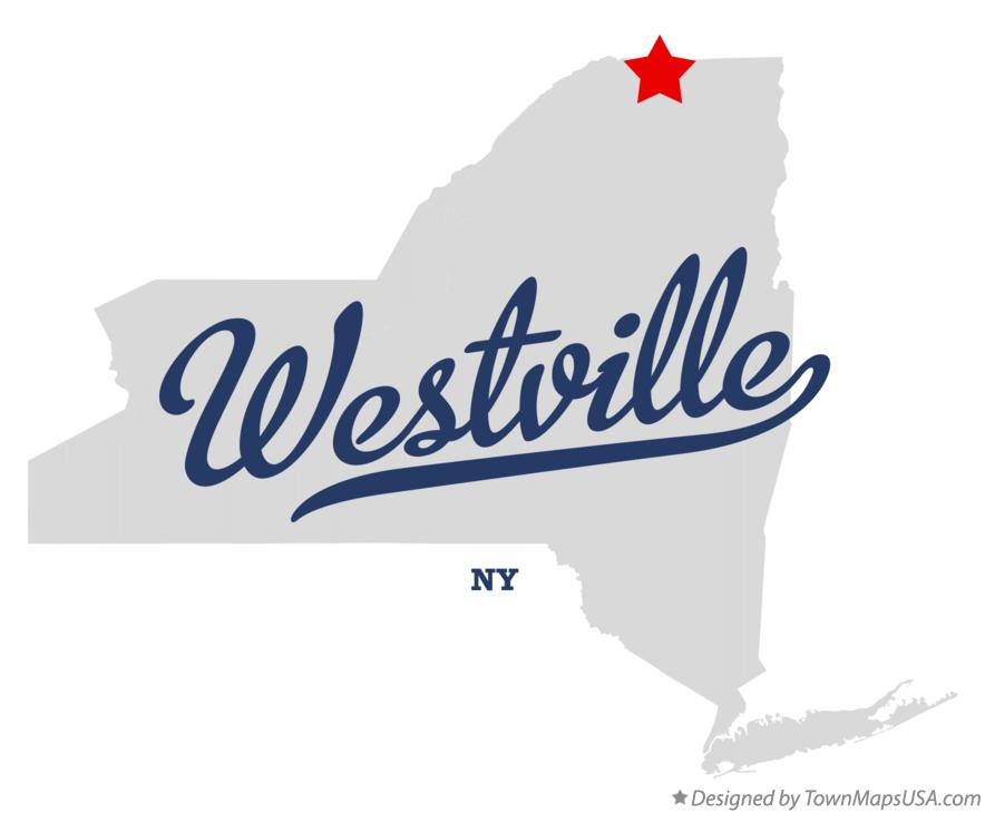 Map of Westville New York NY