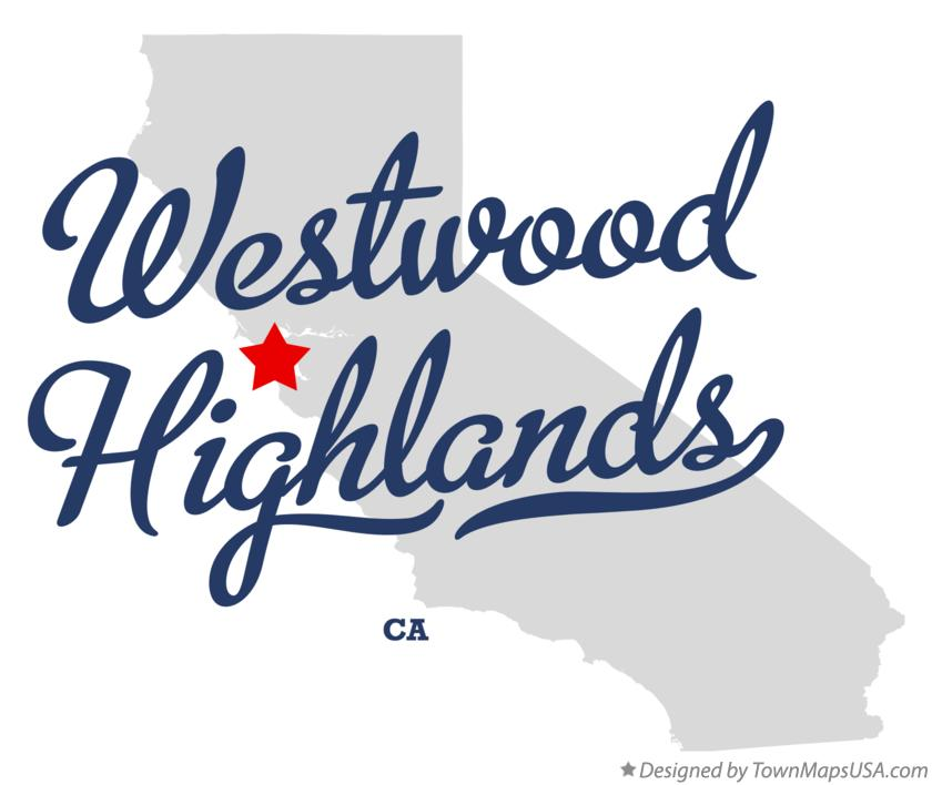 Map of Westwood Highlands California CA