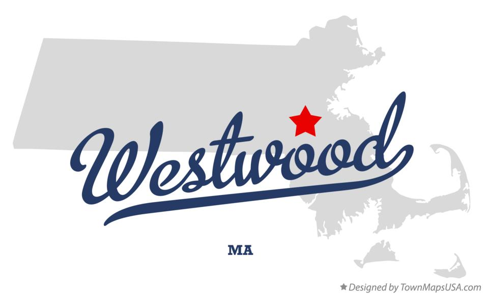 Map of Westwood Massachusetts MA