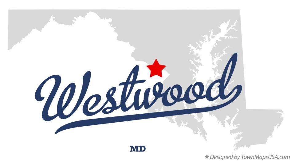 Map of Westwood Maryland MD