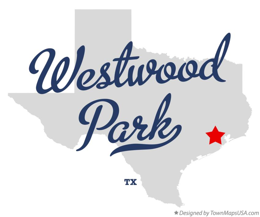 Map of Westwood Park Texas TX