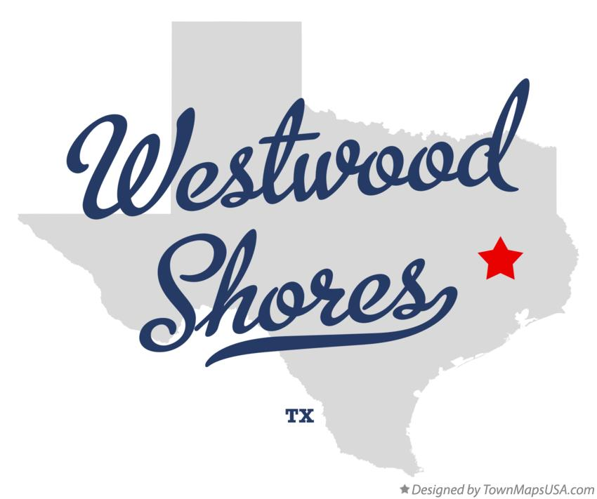 Map of Westwood Shores Texas TX