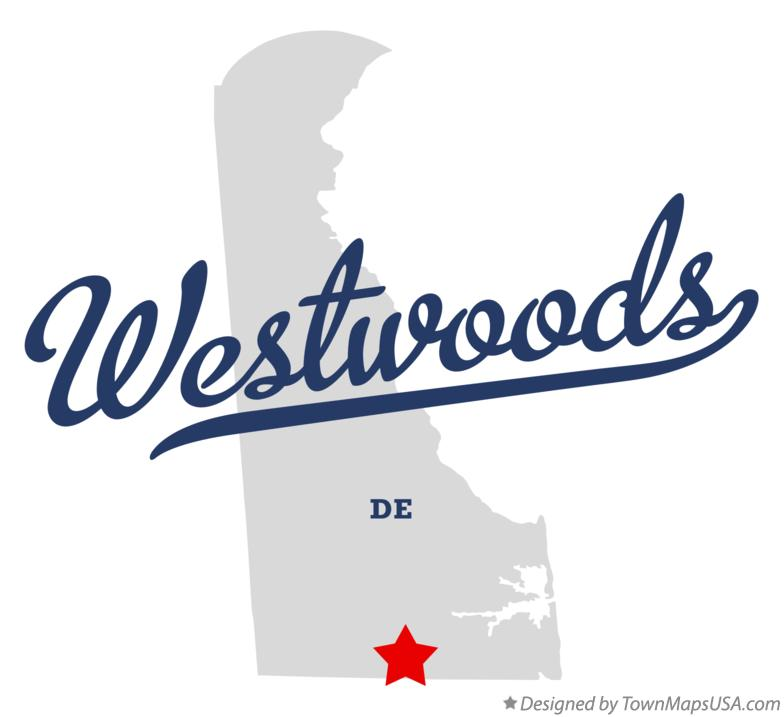 Map of Westwoods Delaware DE
