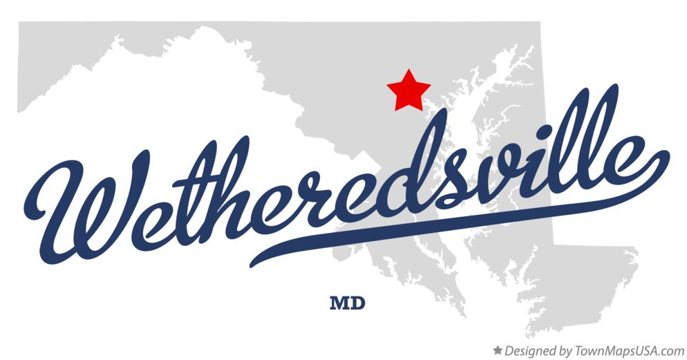 Map of Wetheredsville Maryland MD