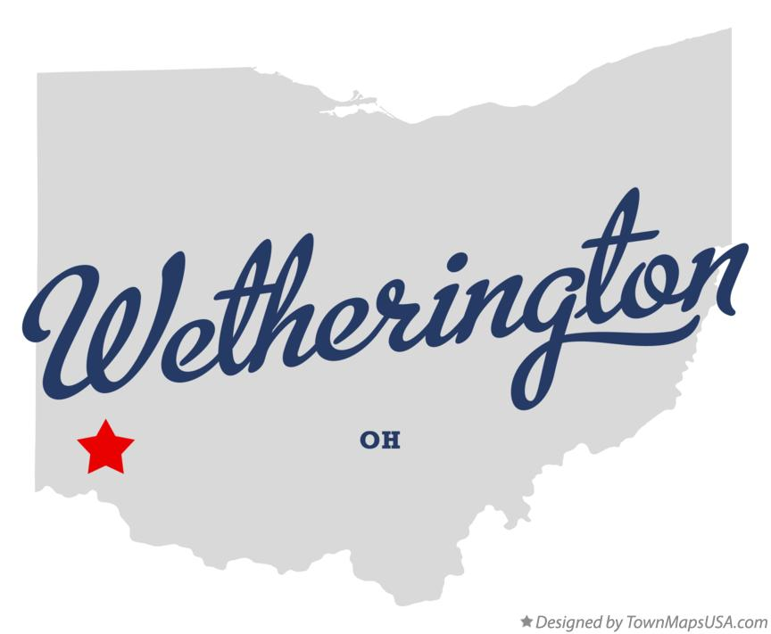 Map of Wetherington Ohio OH