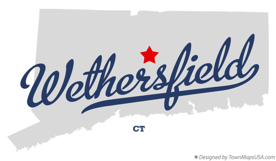 Map of Wethersfield Connecticut CT