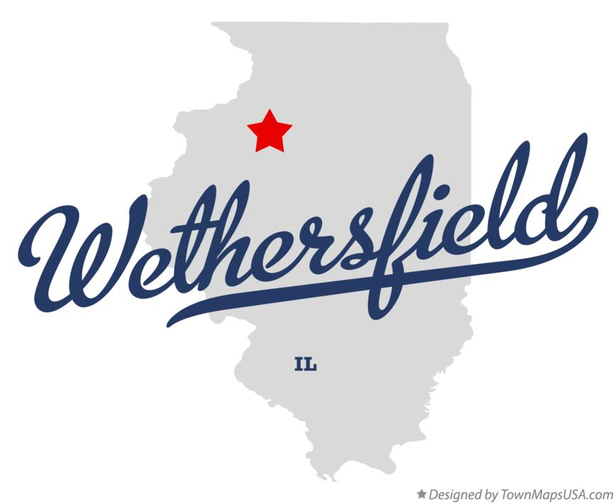 Map of Wethersfield Illinois IL