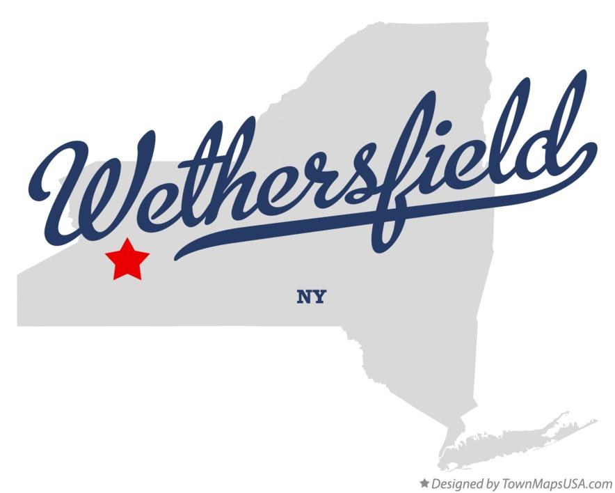 Map of Wethersfield New York NY