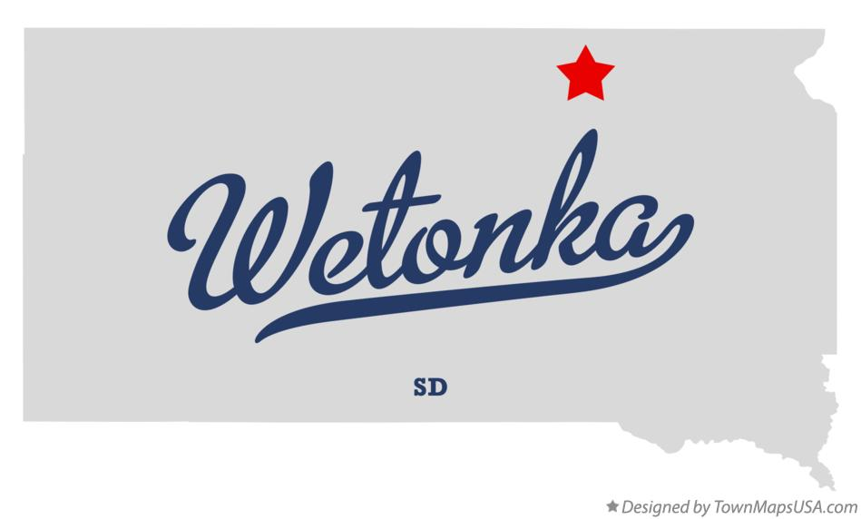 Map of Wetonka South Dakota SD