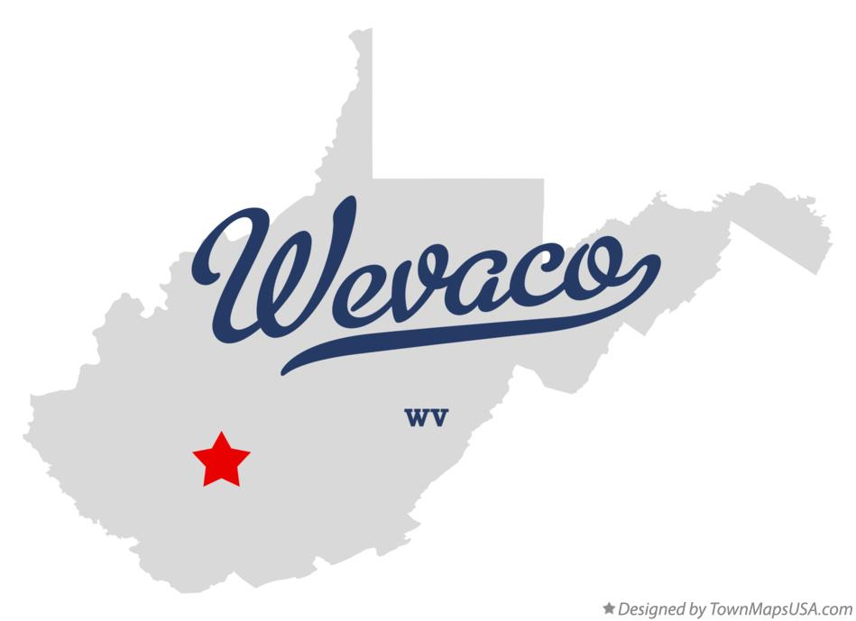 Map of Wevaco West Virginia WV