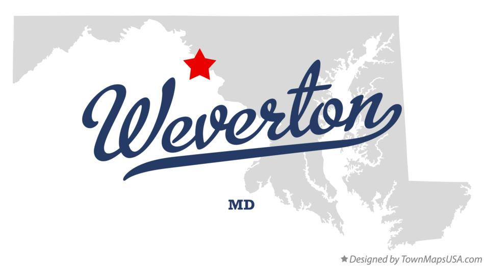 Map of Weverton Maryland MD