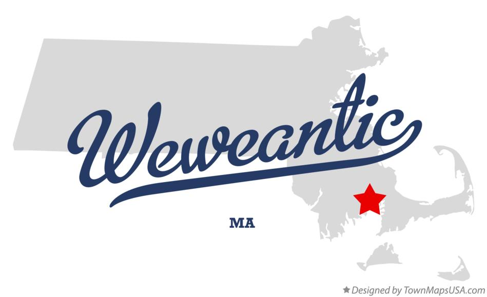 Map of Weweantic Massachusetts MA