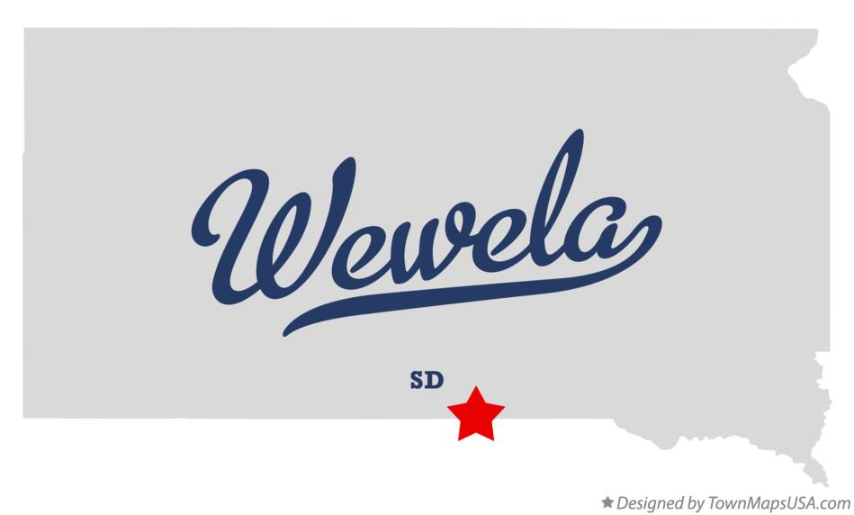 Map of Wewela South Dakota SD