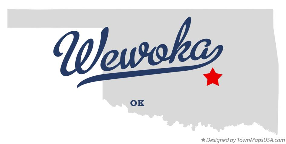 Map of Wewoka Oklahoma OK
