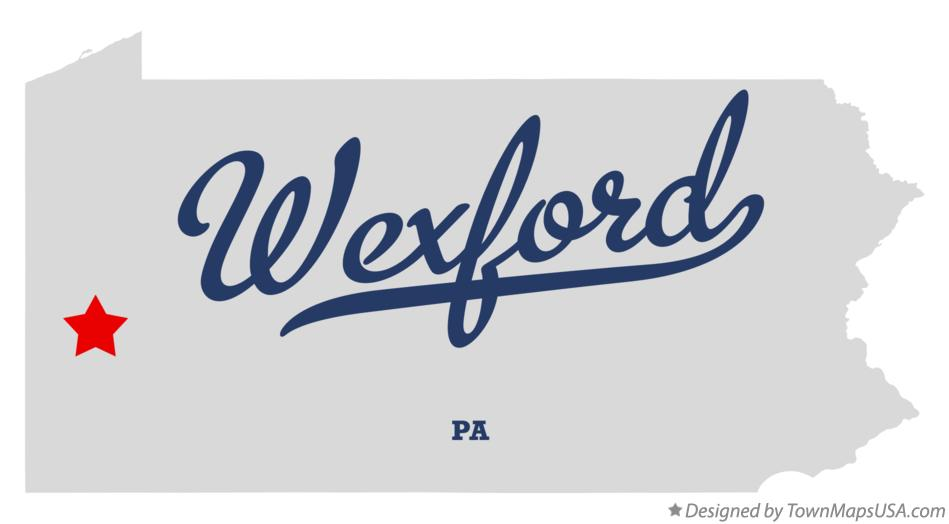 Map of Wexford Pennsylvania PA